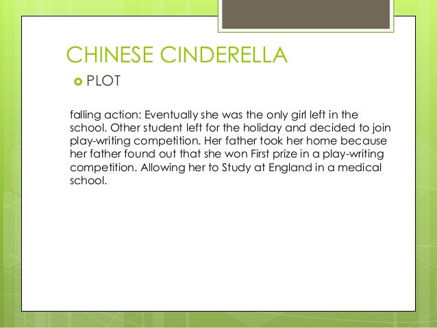 chinese cinderella 3 essay This book is the moving autobiography of a young chinese girl, adeline yen mah 'although chinese cinderella was written when i was in my late 50's.