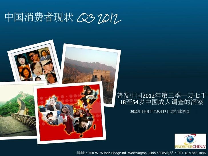 Chinese Consumer Update 2012 Q3 - Chinese