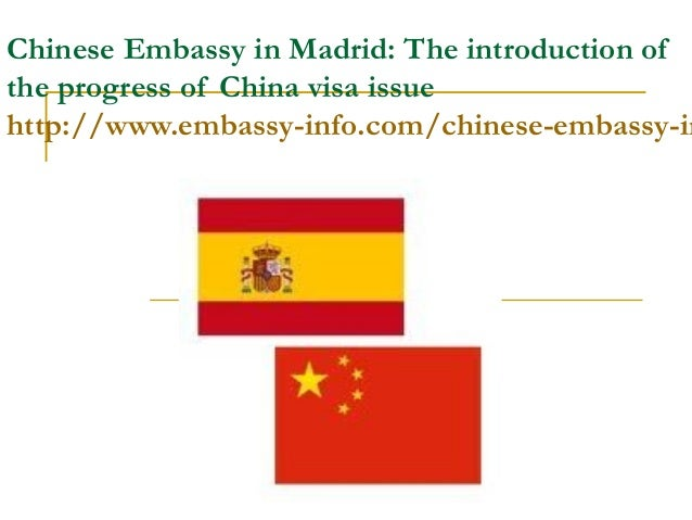 Chinese embassy in madrid