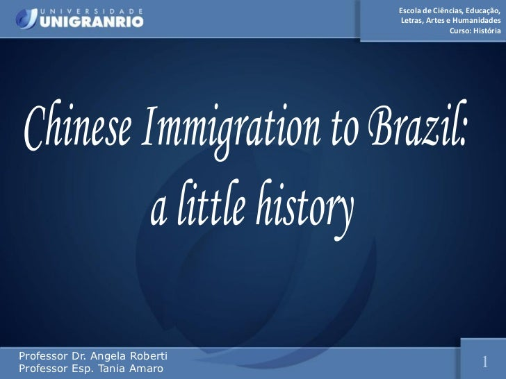 Chinese Immigration to Brazil: A Little History