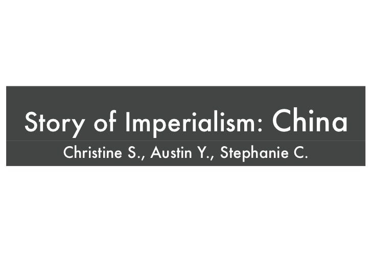 story of imperialism  china
