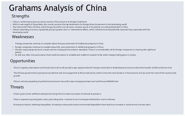 a pestel analysis of china market economics essay Pestle analysis is an external analysis economics essay september 27, 2017 | by admin it is a portion of the external analysis when carry oning a strategic analysis or doinga market research, and gives an overview of the different macro environmental factors that the company has to take into consideration.