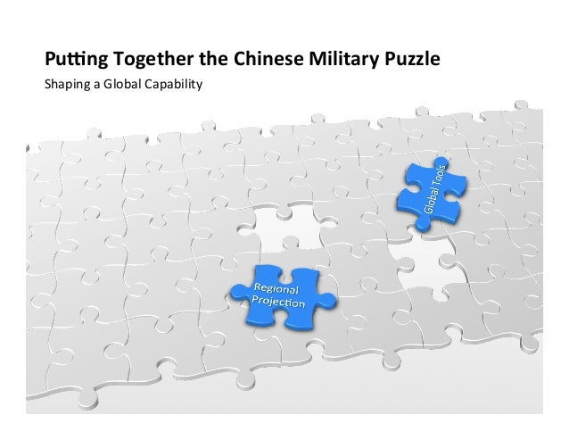 Pu#ng Together the Chinese Military Puzzle Shaping a Global Capability