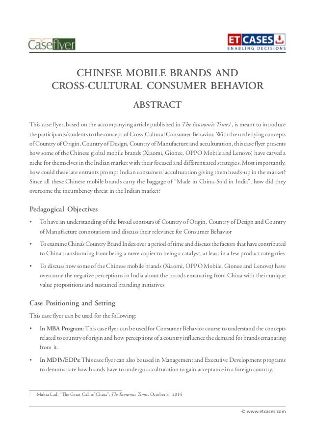 cross cultural consumer behavior an Open document below is an essay on cross-cultural consumer behavior: an international perspective in consumer behavior from anti essays, your source for research.
