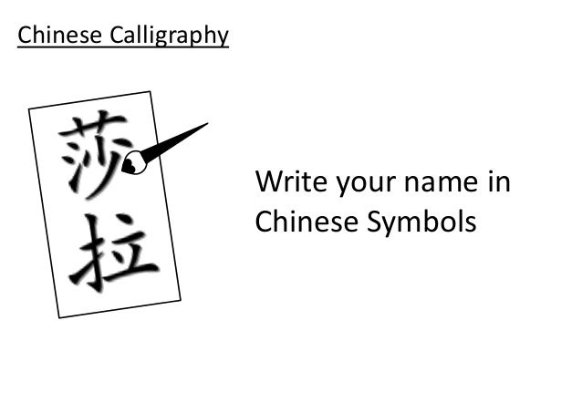 english names in chinese writing