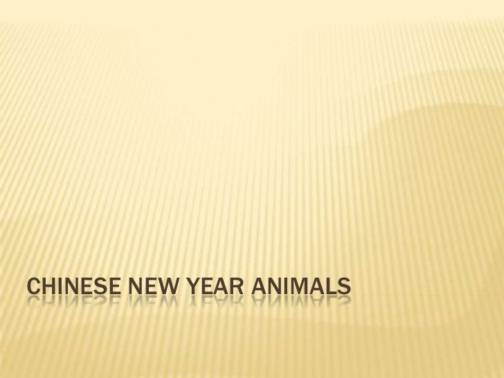 Chinese new year animals