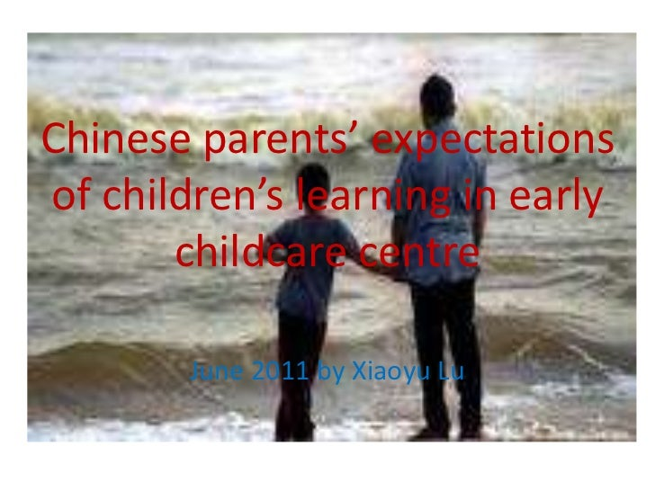 Chinese parents' expectations of children's learning in