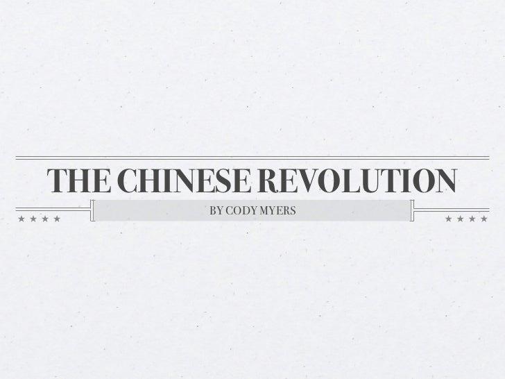 Chinese revolution ppt