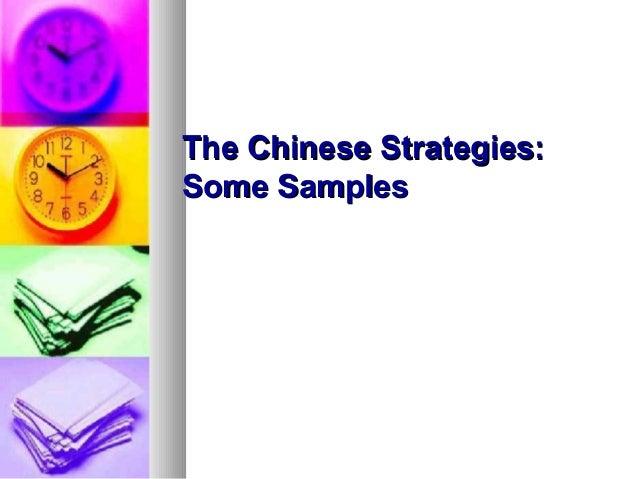 Chinese strategies