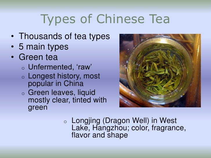 Chinese Tea Types