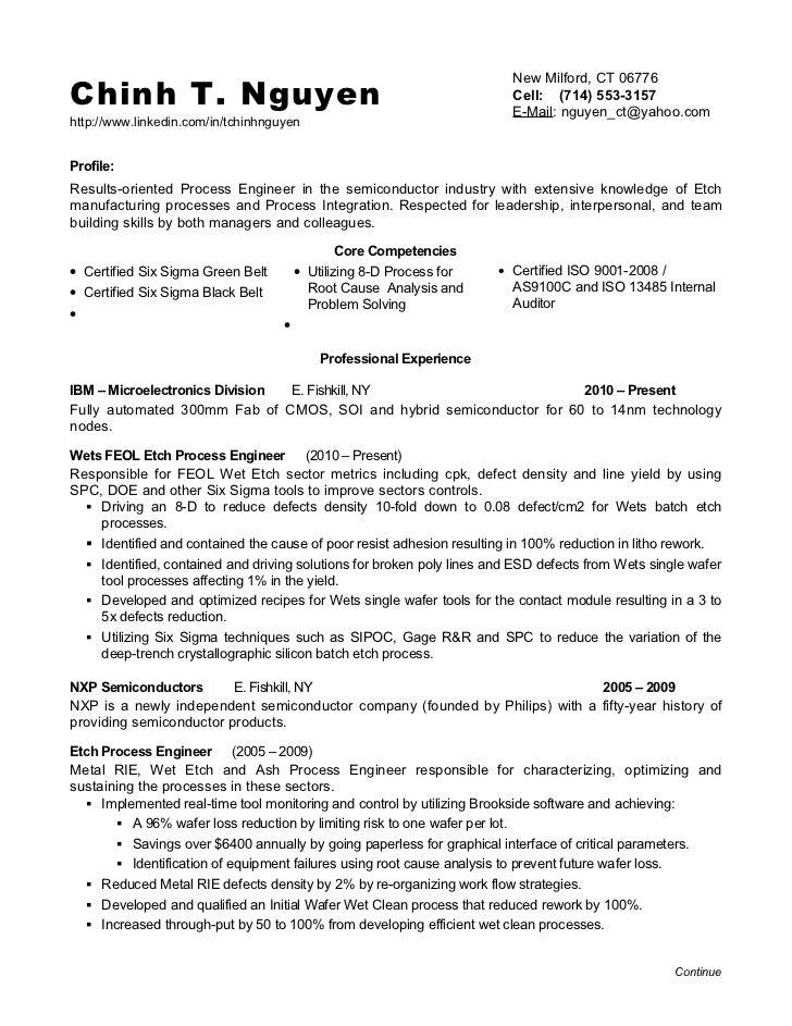 validation engineer resume