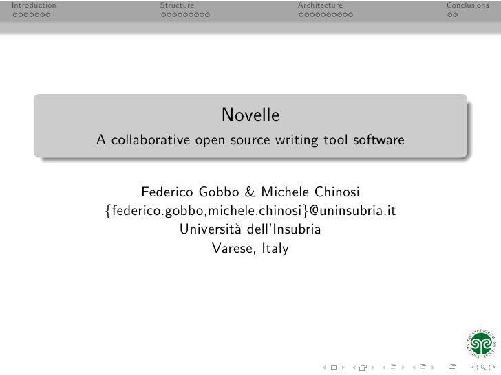 Introduction             Structure             Architecture        Conclusions                                          No...