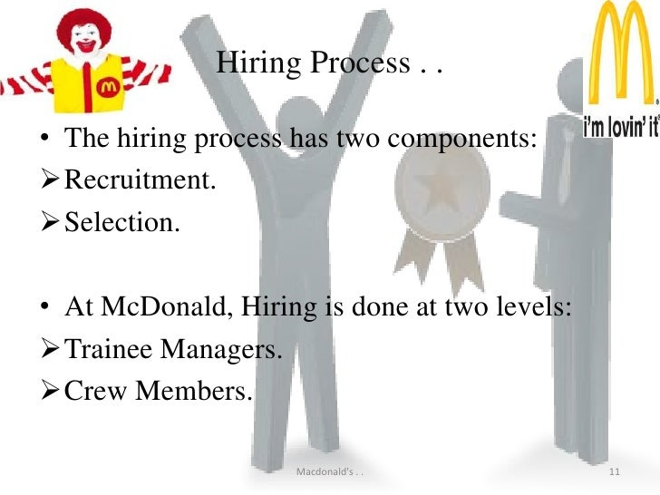 mcdonalds recruiting selection essay