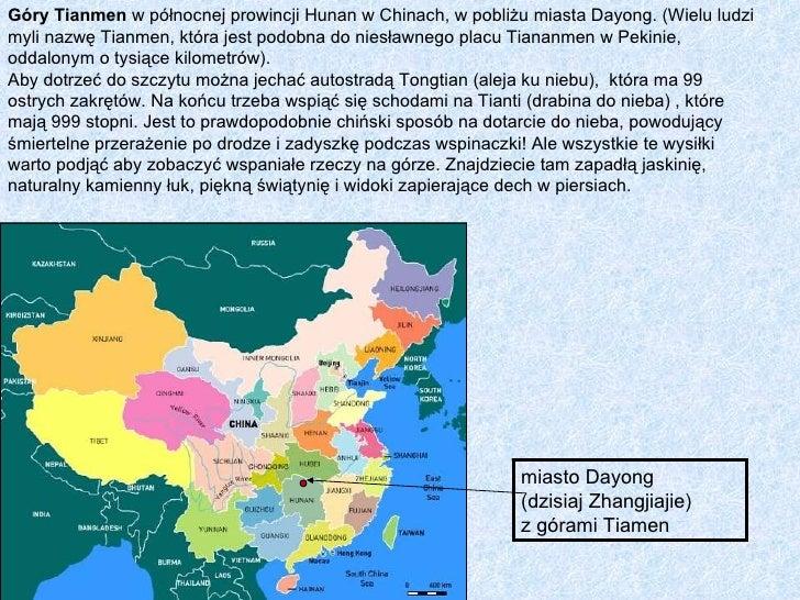 Góry Tianmen w północnej prowincji Hunan w Chinach, w pobliżu miasta Dayong. (Wielu ludzimyli nazwę Tianmen, która jest po...