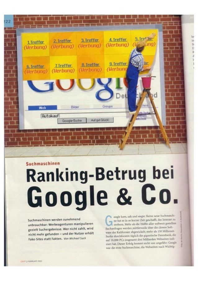 Chip - Ranking-Betrug bei Google & Co.