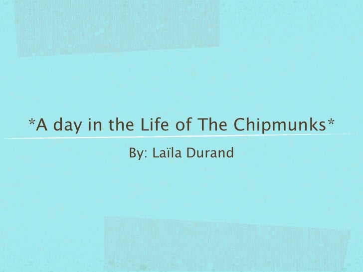 *A day in the Life of The Chipmunks*           By: Laïla Durand