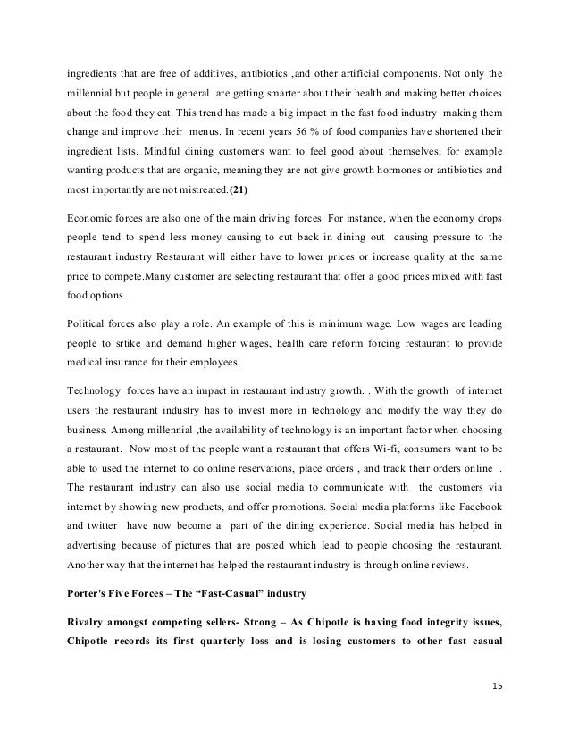 research paper restaurant industry