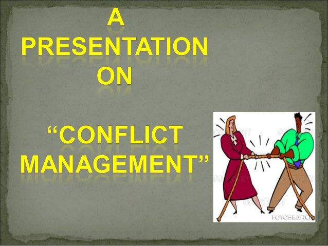 Research paper on conflict management