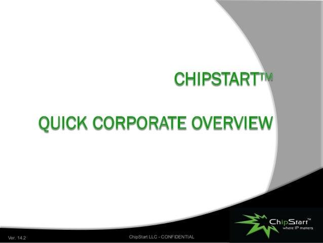 TM Where IP Matters June 2014 ChipStart LLC - CONFIDENTIALVer. 14.2