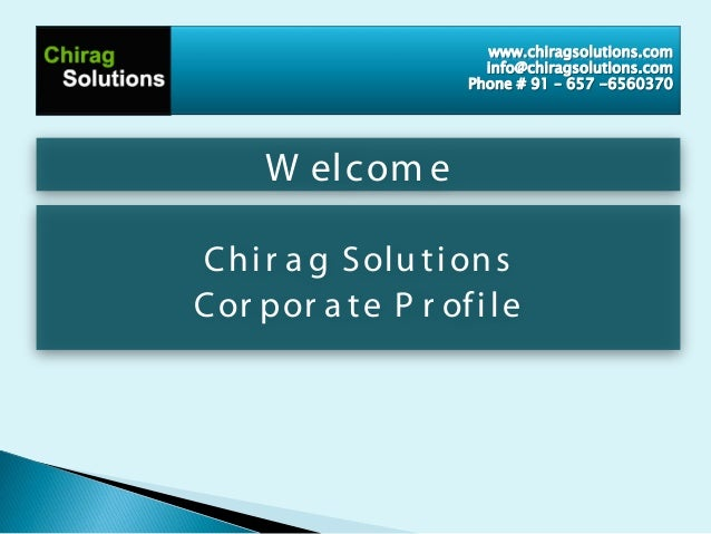 Chirag solutions profile