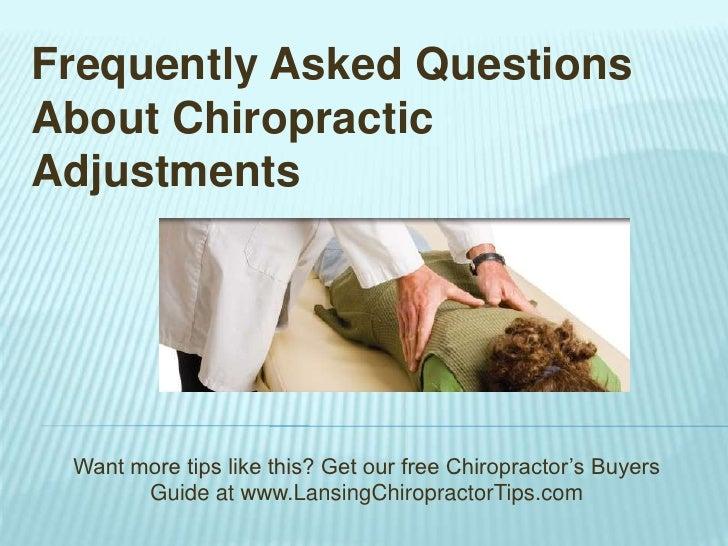 Chiropractic FAQs - Lansing Chiropractor Tips