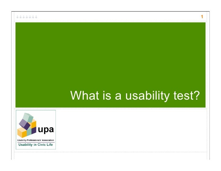 1     What is a usability test?