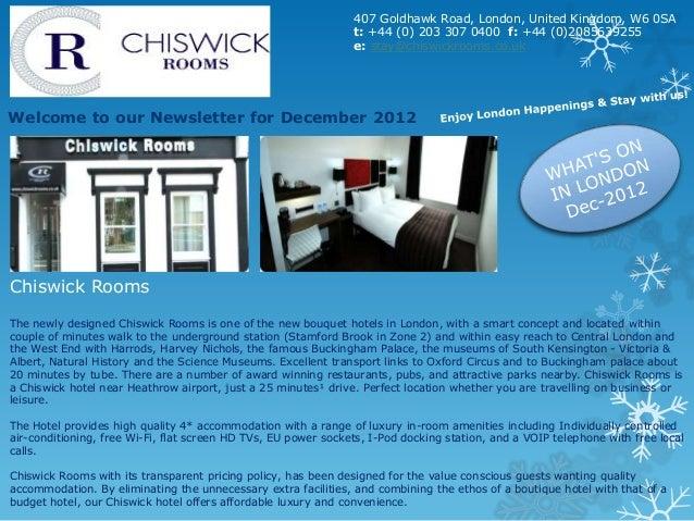 Chiswic rooms November newsletter