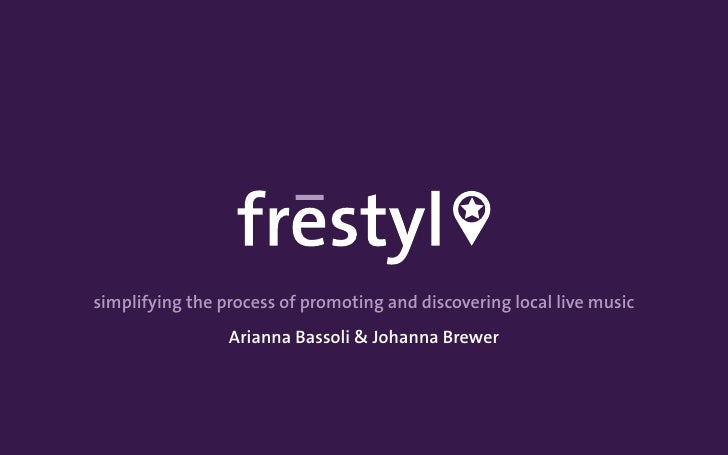 simplifying the process of promoting and discovering local live music                 Arianna Bassoli & Johanna Brewer
