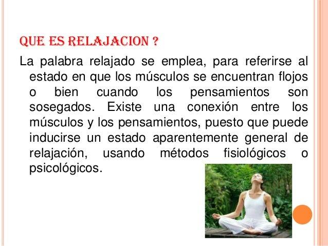 Estiramiento y relajaci n - Relajacion para dormir bien ...