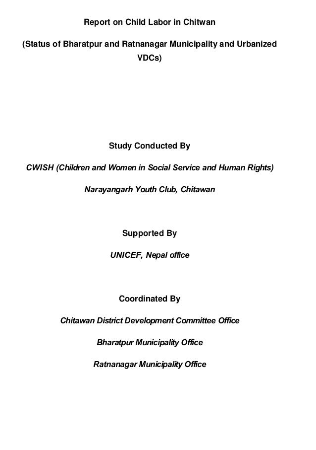 Thesis report on child labor