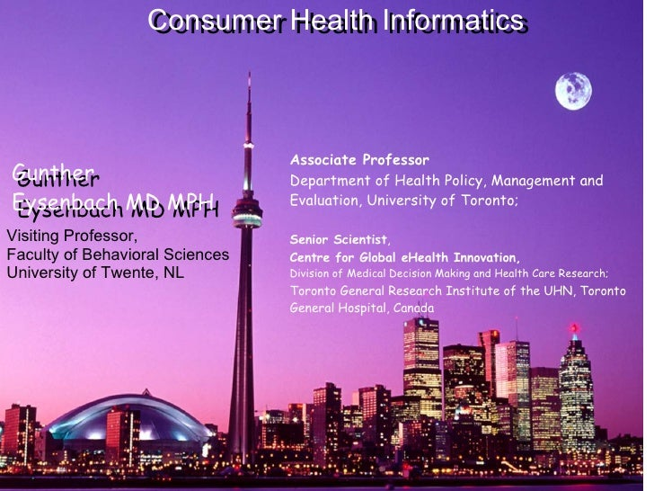 Associate Professor  Department of Health Policy, Management and Evaluation, University of Toronto; Senior Scientist ,  ...