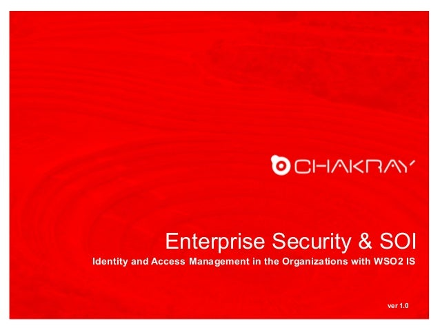 Chakray.com - Enterprise Security and IAM with WSO2IS and Penrose