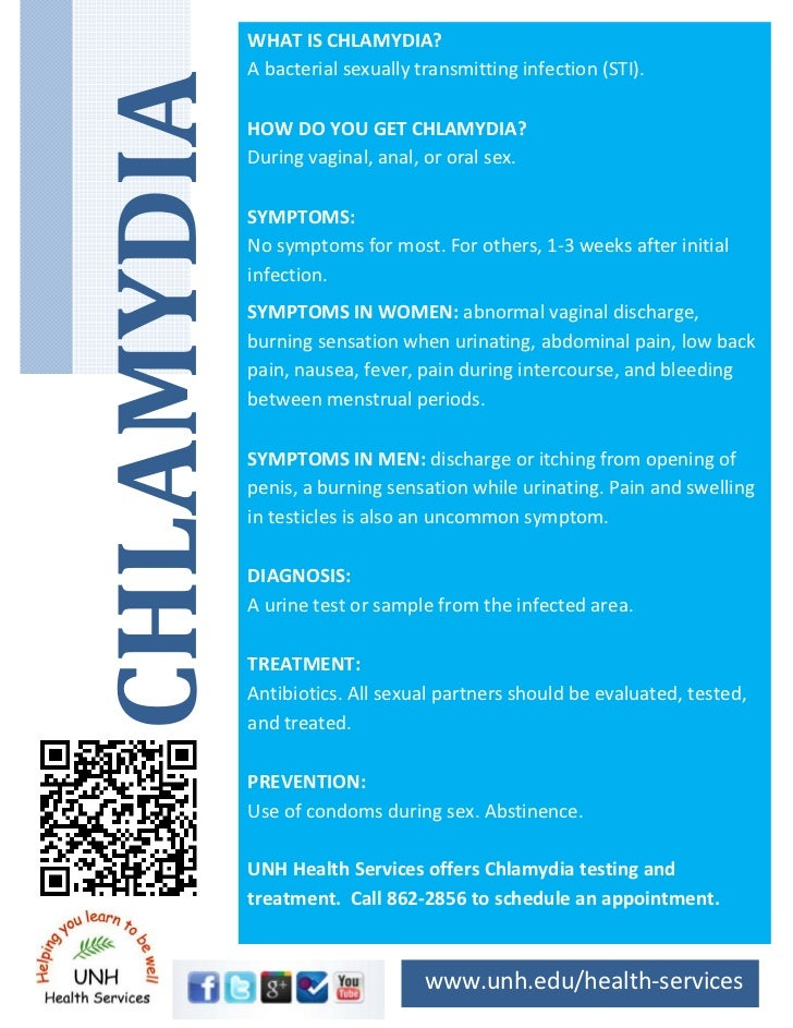 WHAT IS CHLAMYDIA?    A bacterial sexually transmitting infection (STI).          HOW DO YOU GET CHLAMYDIA?     During vag...