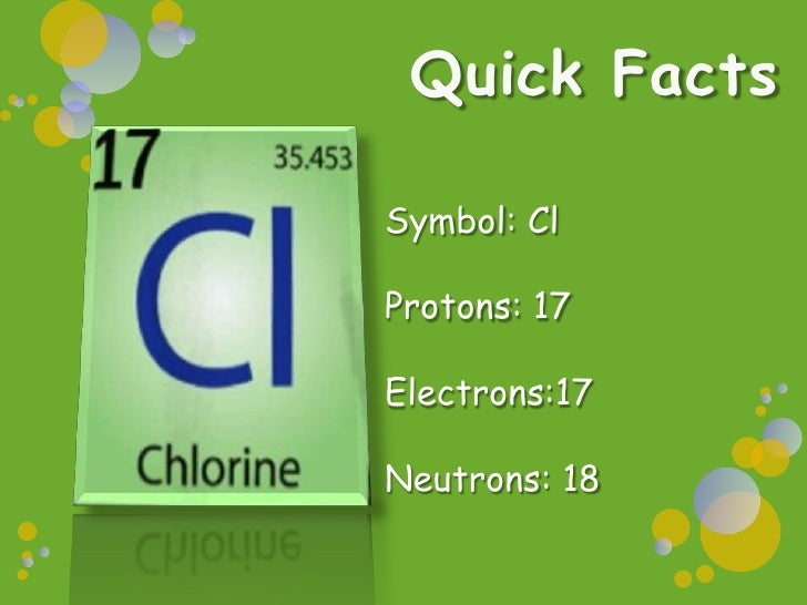 Protons And Neutrons Of Chlorine Chemical Interactions