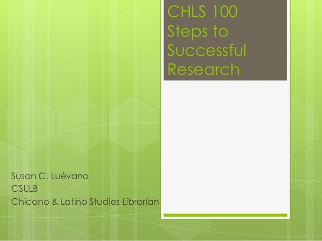 CHLS 100                                     Steps to                                     Successful                      ...