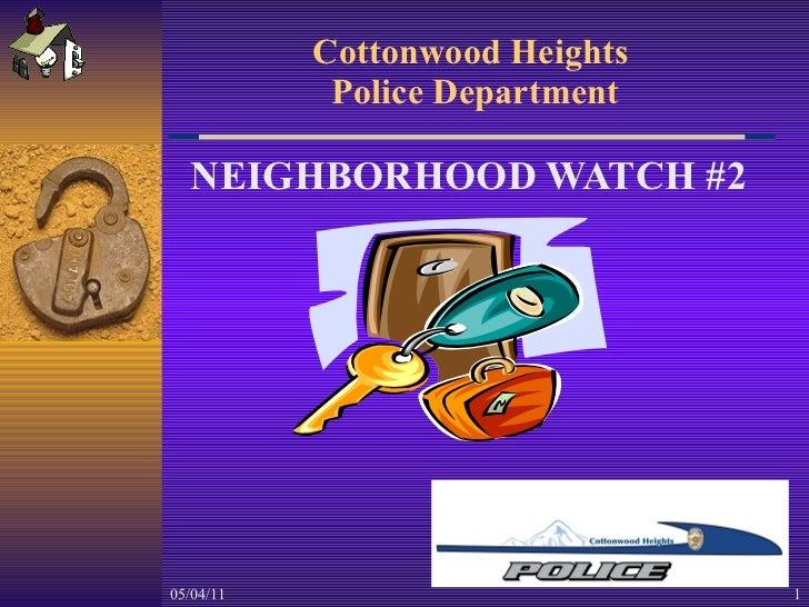 CH Neighborhood Watch Training #2