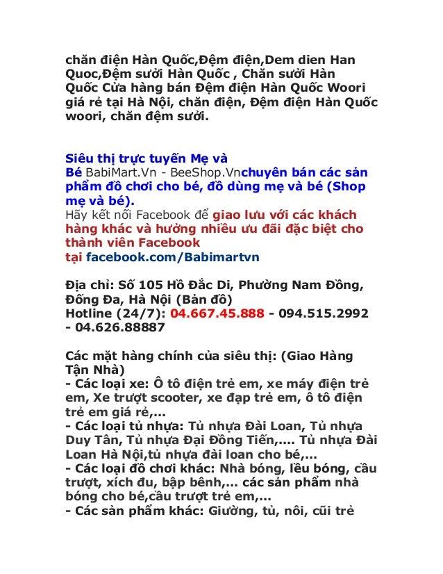chăn điện Hàn Quốc,Đệm điện,Dem dien Han Quoc,Đệm sưởi Hàn Quốc , Chăn sưởi Hàn Quốc Cửa hàng bán Đệm điện Hàn Quốc Woori ...