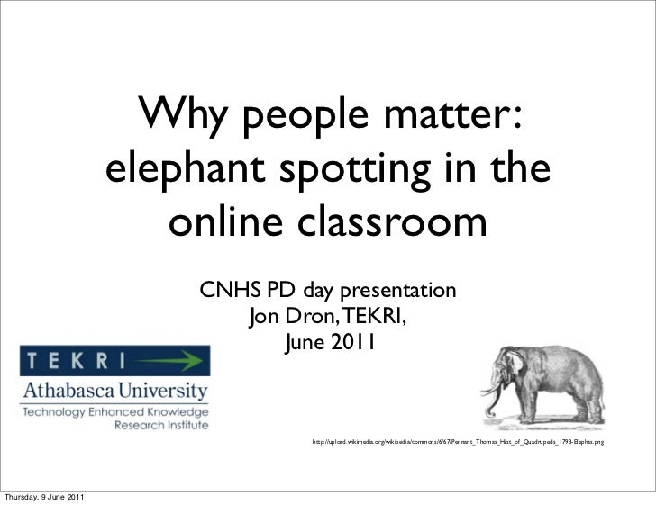 Why people matter:                        elephant spotting in the                           online classroom             ...