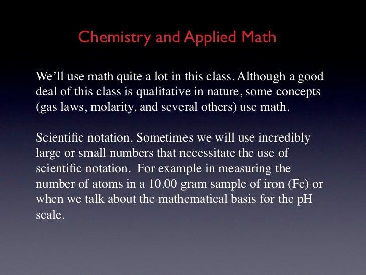 Chemistry & Applied Math