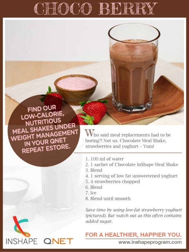 Yummy & Healthy Choco Berry Meal Shake Recipe with QNET In Shape