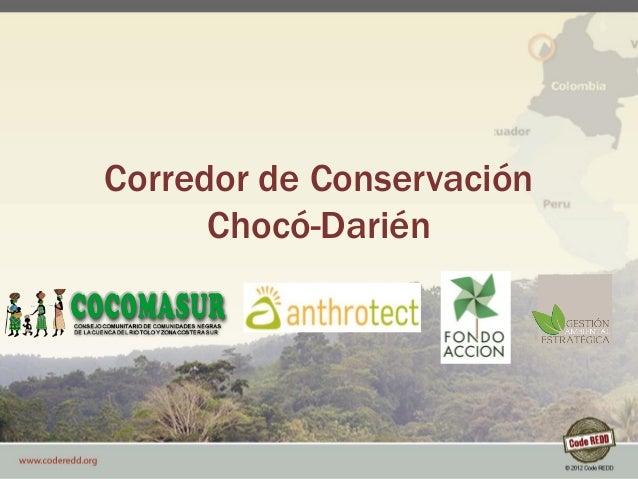 © 2012 Code REDD Corredor de Conservación Chocó-Darién