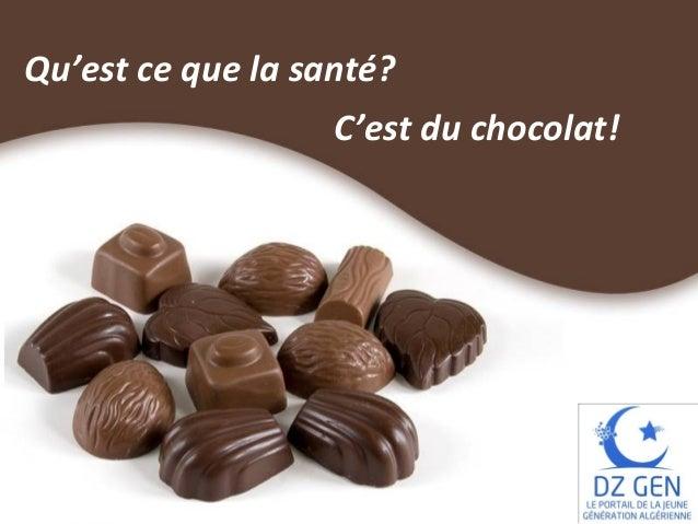 Qu'est ce que la santé? C'est du chocolat!  Free Powerpoint Templates  Page 1