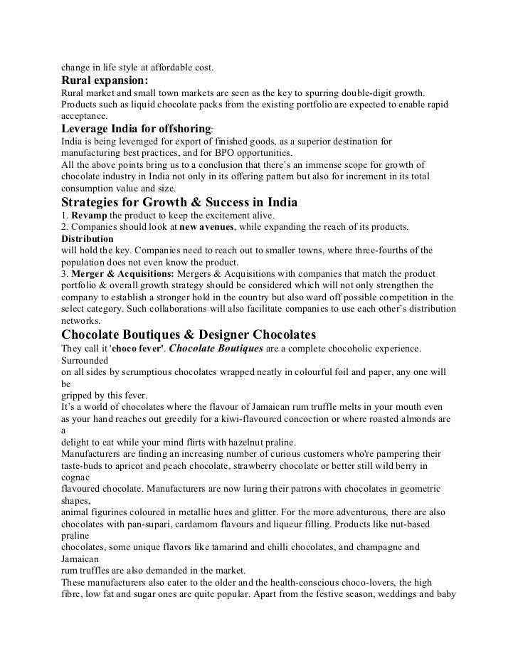 chocolate essay conclusion Chocolate chip hazelnut cookies topic: how to make chocolate chip hazelnut cookies i introduction iii conclusion.