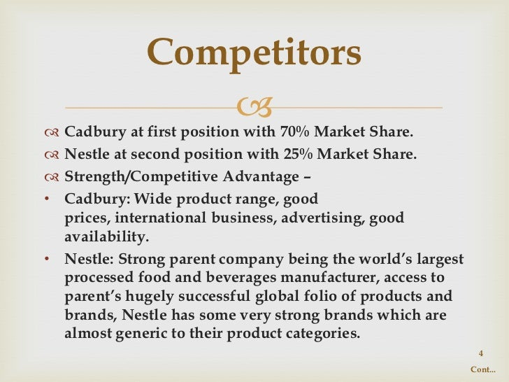 nestle chocolates segmentation india We're always working to improve nestlecom  food and beverages remain core to our strategy our aim is to provide the tastiest and healthiest choices, at all .