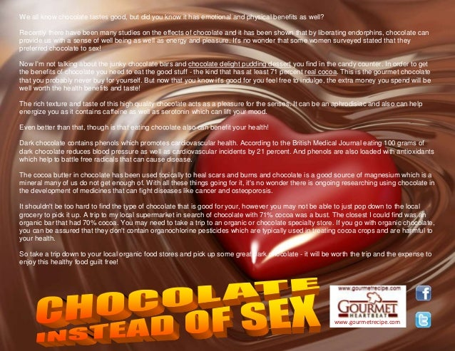 Chocolate instead of sex