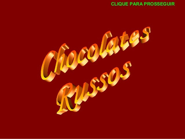 Chocolates russos