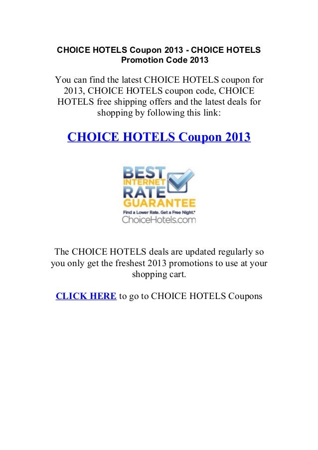 Discount coupons for hotels