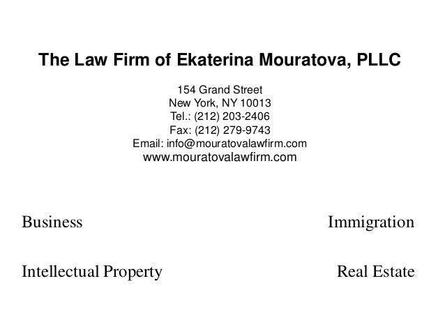 The Law Firm of Ekaterina Mouratova, PLLC154 Grand StreetNew York, NY 10013Tel.: (212) 203-2406Fax: (212) 279-9743Email: i...