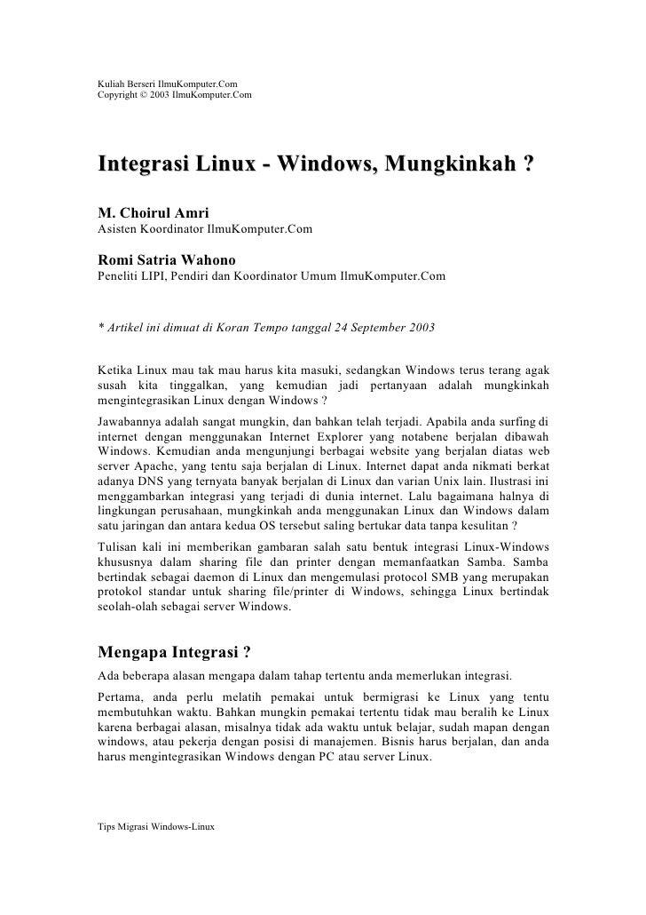 Choirul integrasilinuxwin