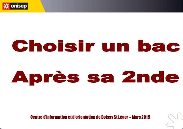 Centre d'information et d'orientation de Boissy St Léger – Mars 2015